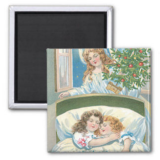 Children Sleeping Angel Christmas Tree Window Magnet