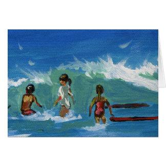 Children surfing card