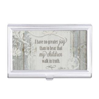 Children Walk in Truth - 3 John 1:4 Business Card Holder