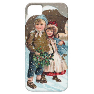 Children walking through the snow iPhone 5 cases