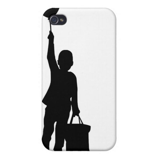 Children with balloon cover for iPhone 4