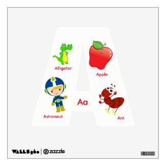 Childrens' ABC Square Wall Decal Letter A