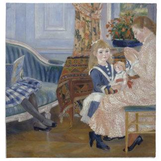 Children's Afternoon at Wargemont 1884 by Renoir Cloth Napkins
