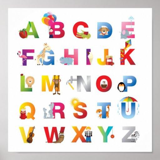 childrens alphabet poster