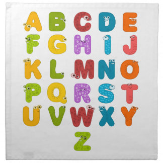Children's Alphabet Printed Napkin