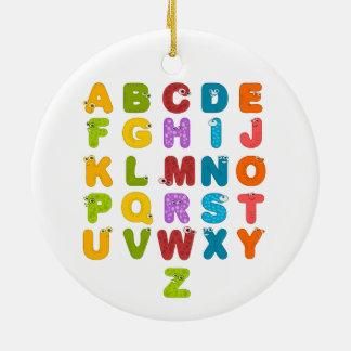 Children's Alphabet Round Ceramic Ornament