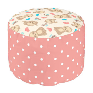 Children's Baby Cute Adorable Brown Sloth Pouf