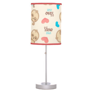 Children's Baby Cute Adorable Brown Sloth Table Lamp