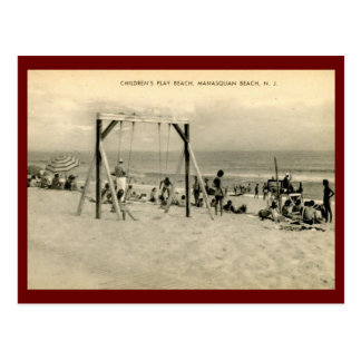 Children's Beach, Manasquan, New Jersey Vintage Postcard