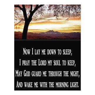 Children's Bedtime Prayer Customized Letterhead