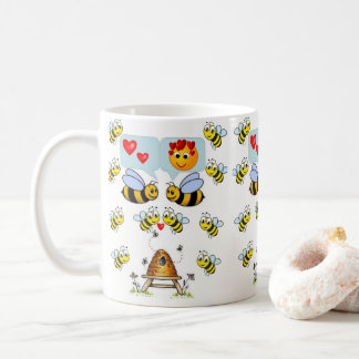 Childrens bumblebee hot chocolate mug