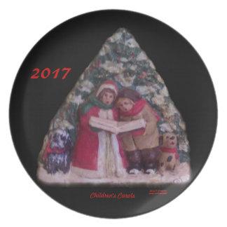 CHILDREN'S CAROLS 113 CHRISTMAS VILLAGE 2017 PLATE