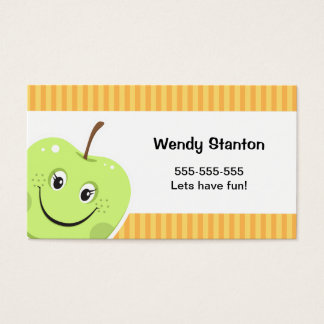 Children's cartoon apple Calling Card
