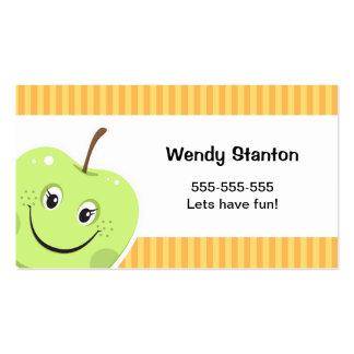 Children's cartoon apple Calling Card Business Card