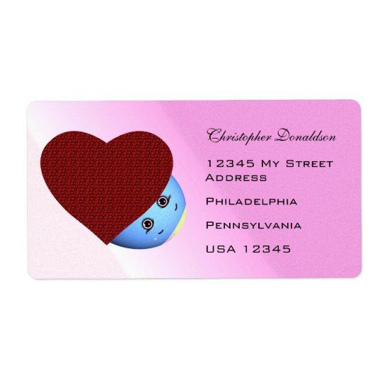 Children's Cartoon Easter Heart Shipping Label