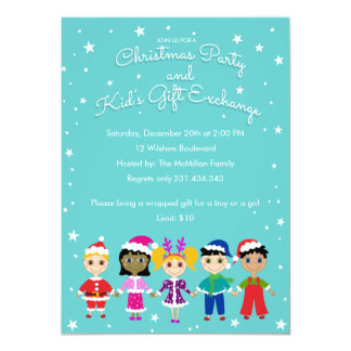 Children s christmas party and kid s gift exchange 4 5 quot x 6 25