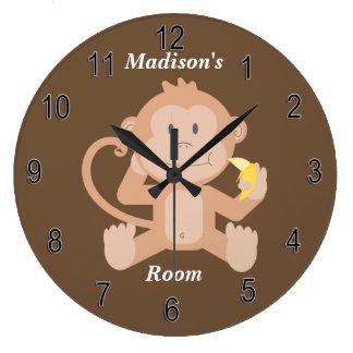 Children's Clock Cute Baby Monkey