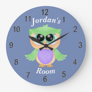 Children's Clock Cute Baby Owl