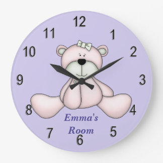 Children's Clock Cute Baby Teddy Bear