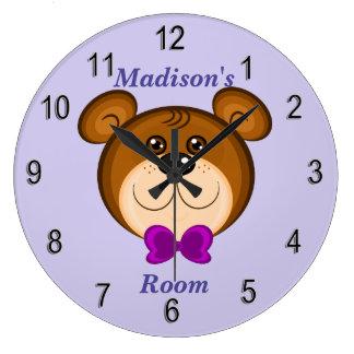 Children's Clock Cute Teddy Bear
