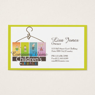 children's clothing store business cards