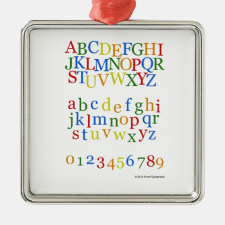 Children's Colorful Alphabet Upper + Lower Case Metal Ornament