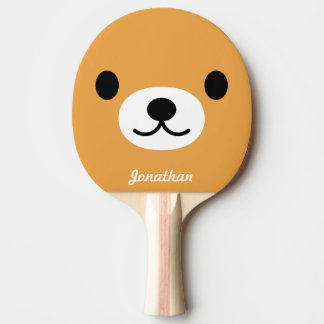 Children's Cute Bear Ping Pong Paddle