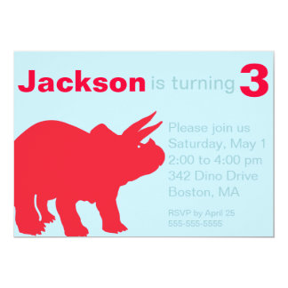 Children's Dinosaur Party Invitations