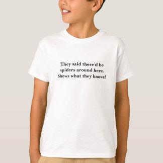 Children's Fashion Funny Spider's Around Here T-Shirt