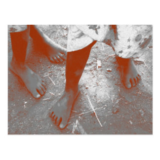 Children's Feet In Africa Postcard