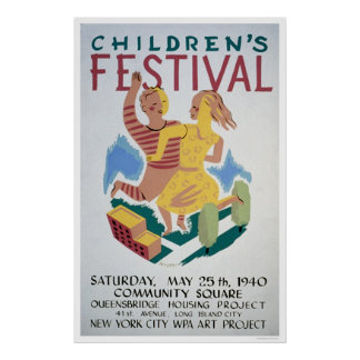 Childrens Festival NYC 1940 WPA Poster