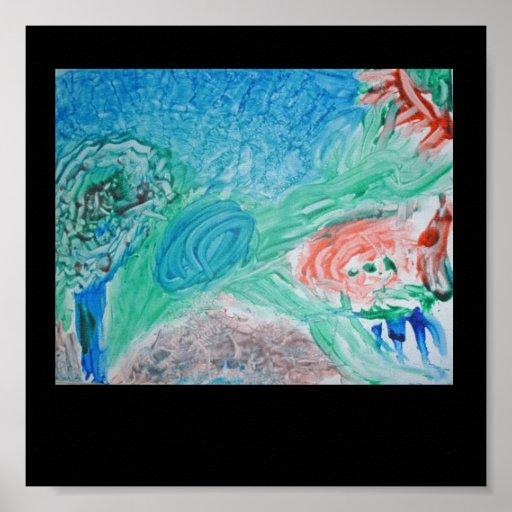 Childrens Finger Paint Print