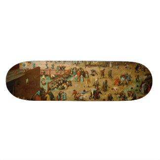 Children's Games by Pieter Bruegel the Elder Skateboard Decks