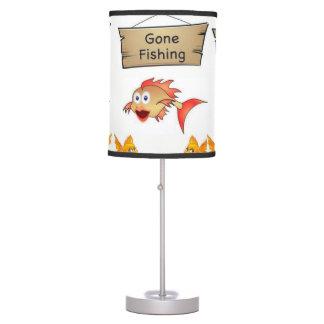 childrens gone fishing white decorative lamp shade