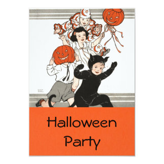 Children's Halloween Costume Party Card