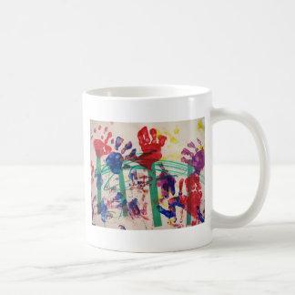 Children's handprint Garden Classic White Coffee Mug