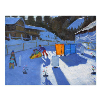 childrens ice rink Clusaz 2014 Postcard