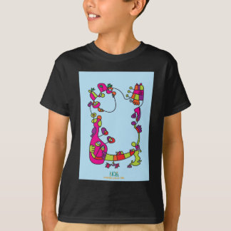 childrens illustration happy naive cute friend T-Shirt