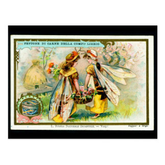 Childrens in insect costume: Wasp postcard