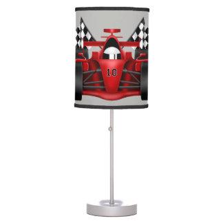 Children's Lamp Race Car Checkered Flag
