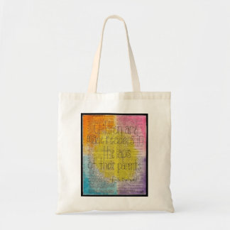 Children's Literary Quote Themed Tote Bag