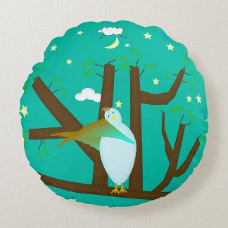 Children's Mint Sleepy Time Bedroom Decor Pillow Round Pillow