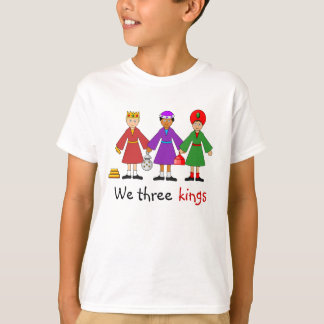 Children's Nativity -- We three kings T-Shirt