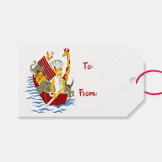 Children's Noah's Ark Animals Gift Tags