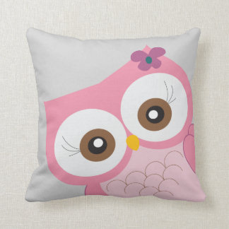 Children's Owl Nursery Bedroom Decor Pillow