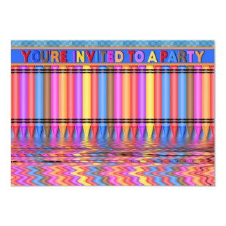 CHILDREN'S PARTY INVITATION - MULTI PURPOSE/CRAYON