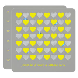 Children's Party with Hearts and PhotoTemplate Card