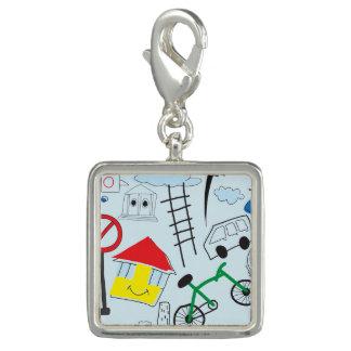 Children's Pattern - Euro Style Kids Photo Charm