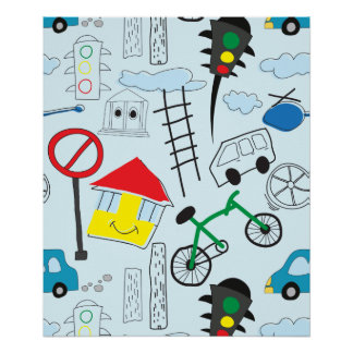 Children's Pattern - Euro Style Kids Poster