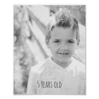 Childrens Photo with age Poster